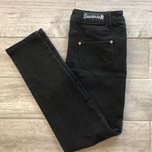 Sourpuss black jeans skinny leg pants Zipper Med
